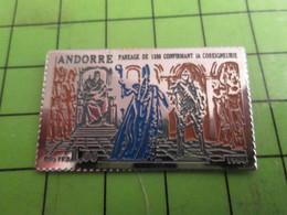 1115C Pins Pin's / Rare & De Belle Qualité  THEME : POSTES / GRAND TIMBRE-POSTE ANDORRE - Mail Services