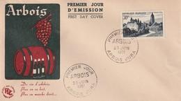 FDC - ARBOIS / JURA - 1951 - FDC