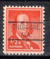 USA Precancel Vorausentwertung Preo, Locals Alabama, Theodore 804 - Etats-Unis
