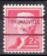 USA Precancel Vorausentwertung Preo, Locals Alabama, Thomasville 846 - Etats-Unis