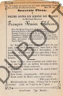 Doodsprentje Pater/Frère François Xavier Thibeaux °1847 Nil-Saint-Vincent †1882 /Malines/Lasne/Sart-Dames-Avelines(F145) - Décès