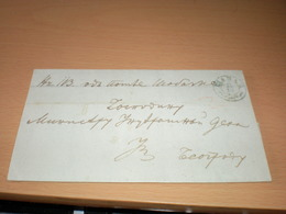 Sabac Ex Off0  To Beograd 1866 - Serbie
