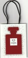 CHANEL  Très Joli Petit Sac  Edition Rouge Edition Limitée Noël 2018 Pour N° 5 L'Eau - Perfume Cards