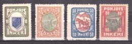 Ingrie - 1920 - N° 8 à 11 - Neufs * - Cote 20 - Timbres