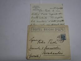 BRIONI  --- CROAZIA  ---  HOTEL  BRIONI - Factures & Documents Commerciaux