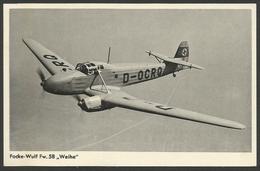 Focke - Wulf Fw.58 Weihe-----old Postcard - 1939-1945: 2ème Guerre