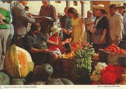 Typical Market Scene. Canary Islands. Spain .  B-3342 - Street Merchants