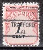 USA Precancel Vorausentwertung Preo, Locals Alabama, Trafford 841 - Etats-Unis