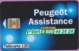 Télécarte 120 °° 826 -Peugeot Assistance N° Vert-Sc7Or-n-1998.02. - France