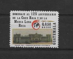 GUATEMALA 1990, HOMAGE TO RED CROSS, 125TH ANNIVERSARY, 1 VALUE, MNH MICHEL 1318, YVERT PA837, SCOTT C838 - Guatemala