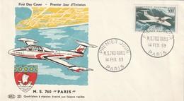 FDC - 300 Fr  M.S.760  - PA N°35 - 1959 - FDC