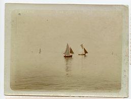 Voilier Bateaux Romantisme XIX 1900 Photo Ancienne - Boten