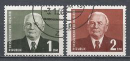 German Democratic Republic 1953. Scott #120-1 (U) Pres. Wilhelm Pieck ** Complet Set - Used Stamps