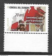 France 2018 - Yv N° 173 ** Convention-cadre Pour La Protection Des Minorités Nationales 20 Ans (Conseil De L'Europe) - Mint/Hinged