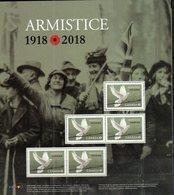 CANADA, 2018, MNH, WWI, ARMISTICE, BIRDS,  SHEETLET - WW1