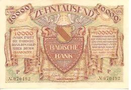 Germany  10000 Mark  1923 - [ 3] 1918-1933 : République De Weimar
