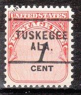 USA Precancel Vorausentwertung Preo, Locals Alabama, Tuskegee 703 - Etats-Unis