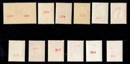 France Belle Collection De 12 Timbres De Roulettes (n° Rouge Au Verso) 1962/1973. Bonnes Valeurs. TB. A Saisir! - Roulettes