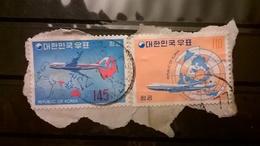 FRANCOBOLLI STAMPS COREA DEL SUD KOREA 1973 SU FRAMMENTO SERIE AIRMAIL - Corea (...-1945)