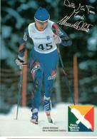 CARTOLINA  MANUELA DI CENTA - CAMPIONESSA OLIMPIONICA E DEL MONDO DI SCI DI FONDO - FRIULI- VENEZIA GIULIA - Winter Sports