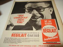ANCIENNE  PUBLICITE POUR MON FOIE   REGILAIT 1965 - Affiches