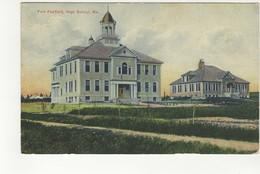 FORT FAIRFIELD, Maine, USA, High School, 1910 S L Postcard - United States