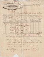 AA173, Jura, LAC Monnier,-Jobez & Fils, Haut-fourneau Et Fonderie De Baudin Près Sellières 1845 - France