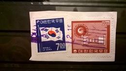FRANCOBOLLI STAMPS COREA DEL SUD KOREA 1962 SU FRAMMENTO SERIE SIMBOLI NAZIONALI - Corea (...-1945)