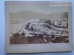 ZA139.22  XIX è , Rare NICE PANORAMA DES QUAIS Photographie Originale De 1870-80 , OLD REAL PHOTO - Photos