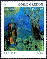 """France Peinture N° 4542 ** Oeuvre De Odilon Redon """" Le Bouddha"""" - Autres"""
