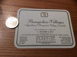 Etiquette Vin «BEAUJOLAIS VILLAGES - L. TRAMIER & FILS - MERCUREY (71)» Export USA - Beaujolais