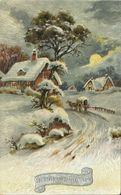 AK Weihnachten / Merry Christmas - Winterlandschaft Ölimit. Color ~1920 #70 - Weihnachten