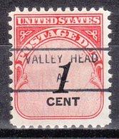 USA Precancel Vorausentwertung Preo, Locals Alabama, Valley Head 846 - Vereinigte Staaten