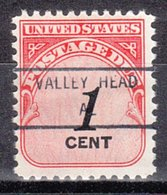USA Precancel Vorausentwertung Preo, Locals Alabama, Valley Head 846 - Etats-Unis