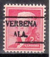 USA Precancel Vorausentwertung Preo, Locals Alabama, Verbena 492 - Vereinigte Staaten