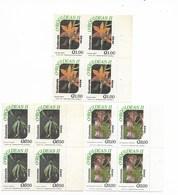 GUATEMALA 1994, ORCHIDS, FLOWERS, 3 VALUES IN BLOCK OF FOUR, MICHEL 1330/2, SCOTT C846/48 - Guatemala