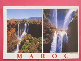 Maroc - Cascades D'Ouzoud - Région De Beni Mellal - Scans Recto Verso - Morocco