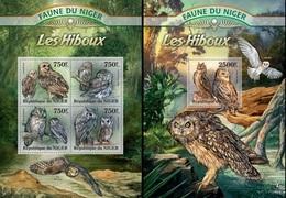 Niger 2013, Animals, Owls, 4val In BF +BF - Niger (1960-...)