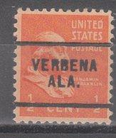 USA Precancel Vorausentwertung Preo, Locals Alabama, Verbena 703 - Vereinigte Staaten