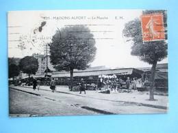 MAISONS ALFORT Le Marché Voyagé En 1933 - Maisons Alfort