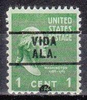 USA Precancel Vorausentwertung Preo, Locals Alabama, Vida 729 - Vereinigte Staaten