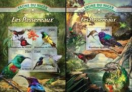 Niger 2013, Animals, Passerine, 4val In BF +BF - Niger (1960-...)