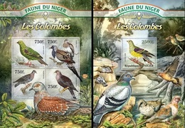 Niger 2013, Animals, Pigeons, 4val In BF +BF - Niger (1960-...)
