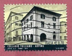 ITALIA REPUBBLICA USATO - 2014 - Eccellenze Del Sapere Collegio Tulliano, Arpino - € 0,70 - S. 3484 - 2011-...: Afgestempeld