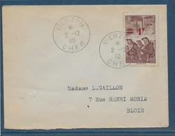 France Timbres Sur Lettre 1940 - TB - Francia