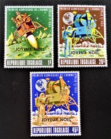 SURCHARGES JOYEUX NOËL 1969  - NEUFS ** - YT 646/48 - MI 762/64 - Togo (1960-...)
