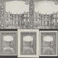 Belgique 1956 Y&T 987. 3 épreuves Mozart, Palais De Charles De Lorraine, Mozart Enfant, Franc-maçonnerie - Architecture