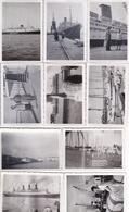 Lots De 10 Photos De Bateaux Formats 8,5x6 - Boten