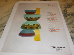 ANCIENNE PUBLICITE  TUPPERWARE 1965 - Autres