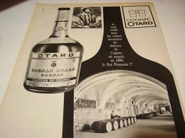 ANCIENNE PUBLICITE COGNAC  OTARD  1965 - Alcools